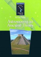 Astronomy In Ancient Times: Past And Present *