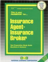 Insurance Agent, Insurance Broker