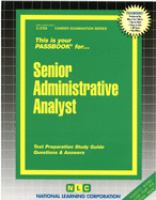 Senior Administrative Analyst