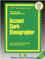 Account Clerk-stenographer