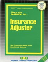 This Is your Passbook for Insurance Adjuster