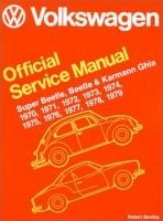 Volkswagen Beetle, Super Beetle, Karmann Ghia Official Service Manual