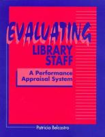 Evaluating Library Staff