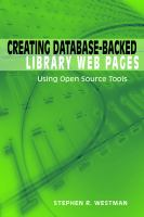 Creating Database-backed Library Web Pages