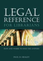 Legal Reference for Librarians