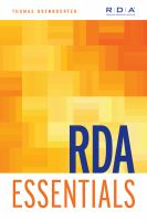 RDA Essentials