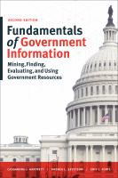 Fundamentals of Government Information