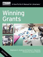 Winning Grants: A How-To-Do-It Manual For Librarians