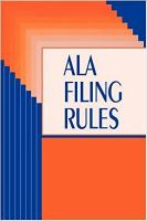 ALA Filing Rules