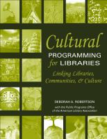 Cultural Programming for Libraries