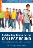 Outstanding Books for the College Bound