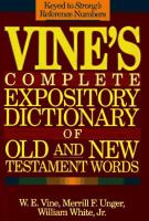 Vine's Expository Dictionary of Biblical Words