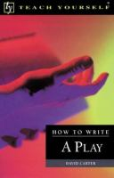 How to Write A Play