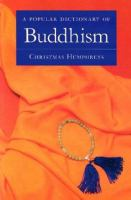 A Popular Dictionary of Buddhism