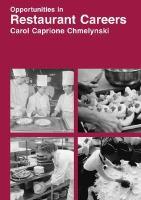 Opportunities in Restaurant Careers