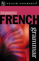 Beginner's French Grammar