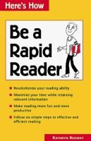 Be A Rapid Reader