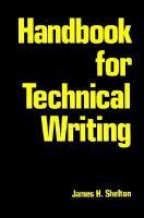 Handbook for Technical Writing