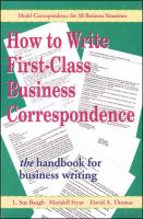 How to Write First-class Business Correspondence