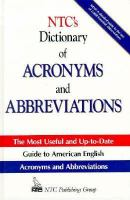 NTC's Dictionary of Acronyms and Abbreviations