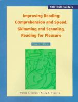Improving Reading Comprehension and Speed, Skimming and Scanning, Reading for Pleasure