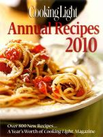 Cooking Light Annual Recipes 2010