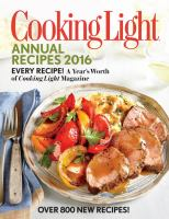 Cooking Light Annual Recipes 2016