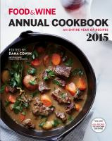 Food and Wine Annual Cookbook 2015