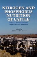Nitrogen and Phosphorus Nutrition of Cattle: Reducing the Environmental Impact of Cattle Operations