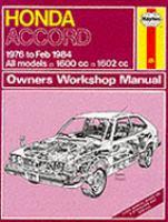 Honda Accord Owners Workshop Manual