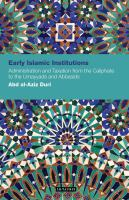 Early Islamic Institutions