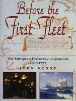 Before the First Fleet