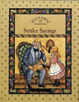 Settler Sayings