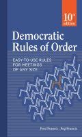 Democratic Rules of Order