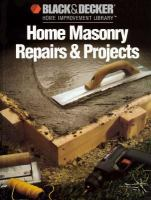 Home Masonry Repairs & Projects