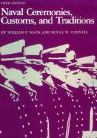 Naval Ceremonies, Customs, and Traditions
