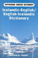Icelandic-English, English-Icelandic Dictionary