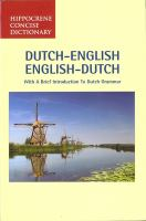 Dutch-English, English-Dutch Dictionary