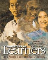Educators As Learners