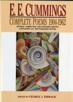 Complete Poems, 1904-1962