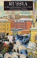 Russia in War and Revolution, 1914-1922