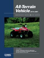 All-terrain Vehicle 1974-1987 Maintenance Manual, Volume 1