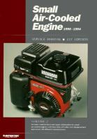 Small Air-cooled Engine Service Manual, 1990-1994
