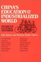 China's Education and the Industrialized World