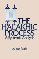 The Halakhic Process