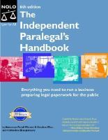 The Independent Paralegal's Handbook