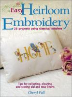 Easy Heirloom Embroidery