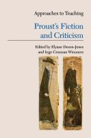 Approaches to Teaching Proust's Fiction and Criticism