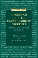 A Research Guide for Undergraduate Students