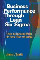 Business Performance Through Lean Six Sigma